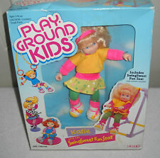 #9377 NRFB Vintage Ertl Play Ground Kids Katie and her Swing Sweet Fun Seat