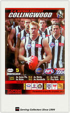2004 AFL Teamcoach Trading Card Red Captain C4 Nathan Buckley ( Collingwood)