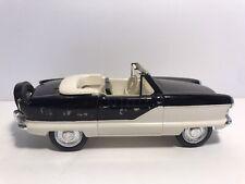 Vtg Hubley Nash Metropolitan Black White Promo Plastic Car Friction Convertible