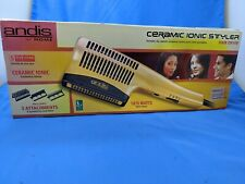New Andis 1875-Watt Ceramic Ionic Styler Hair Dryer, Gold 82105 3 attachmnts new