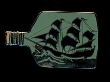 Pirates of the Caribbean Reveal Conceal Mystery Ship in Bottle Disney Pin 84420