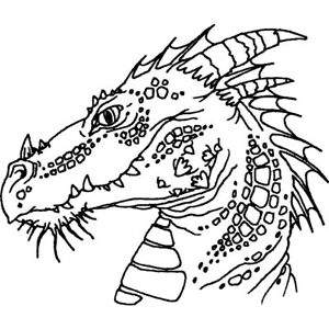'Dragon Head' Unmounted Rubber Stamp (RS009995)