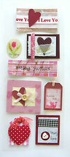 3D  LOVE  themed Sticker / embellishments, Cardmaking, Scrapbooking. New