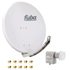 Antenna Fuba 85x85 cm ALLUMINIO DAA 850 grigi 3d HDTV 4k + Unicable-LNB + 10 connettori F