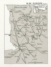 Operation Neptune. Normandy. US 1st Army breakout 25 July-4 Aug 1944 1994 map
