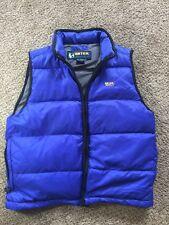 Eddie Bauer Ebtek Goose Down Men's Vest  Small Blue Puffer