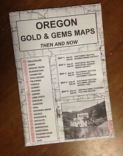 OREGON Gold & Gems Maps Then and Now LOCATE Minerals Fossils
