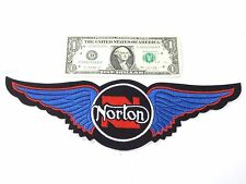 NORTON classic motorcycle back patch Manx Commando wings 750