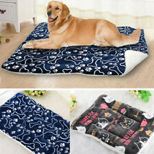 Soft Fleece Pet Blanket Dog Cat Mat Cushion Puppy Bed Sofa Washable Kennel S-XL