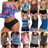 Womens Swimwear Tankini Swimsuit Bikini Padded Tank Top Vest Shorts Beachwear