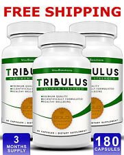 Tribulus Terrestris - 180 Capsules - Testosterone Booster - Muscle Growth