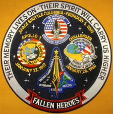 "NEW Fallen Heroes NASA Apollo Space Shuttle 12"" Commemorative Patch Free Ship"