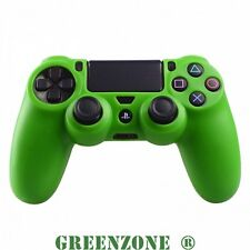 Green Silicone Rubber Soft Protective Skin Grip Cover for PS4 Controller