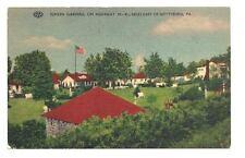 GETTYSBURG PA Sunken Garden Tourist Court Motel Vtg PC Postcard