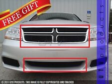 GTG 2011 - 2014 Dodge Avenger 5PC Gloss Black Overlay Billet Grille Grill Kit
