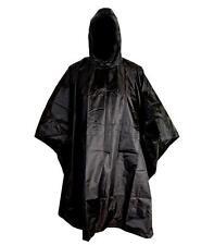 GENTS RIP-STOP WATERPROOF WINDPROOF PONCHO Mens Black SAS jacket basha shelter