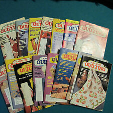 Lot 15 Vintatge Creative Quilting Quilt Magazines 1986-1994    M50