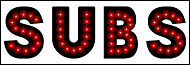 """NEW Generation SUBS open LED neon SIGN LED 15"""" X 5"""""""