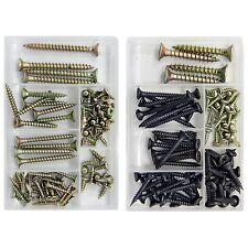 Set of 2 Assortment Screws Kits - Chipboard Drywall &Chipboard Self Tapping