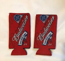 Set of two Budweiser 24oz 25oz Coolie Coozie koolie - New never used