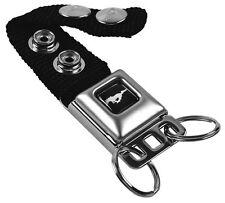 Key Chain Ring Car Lanyard Holder Ford Mustang Black GT 5.0 Liter Genuine