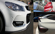 Toyota Yaris Echo Carbon Fiber Look Front Bumper Lid & Rear Boot Spoiler Lip