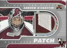 ITG Final Vault 2011-12 BTP Pipes Jerseys Patch Silver #M-52 Andrew D'Agostini