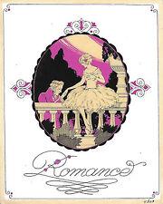 ROMANCE Gouache originale Art Déco Ateliers PICHON Esprit George BARBIER