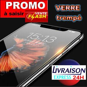 Vitre Verre Trempé iPhone 11 Pro X/S/R/Max-8-7-SE-6 Film Protecteur écran Glass