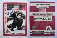 2015 SCA Pat Jablonski Phoenix Coyotes goalie never issued produced #d/10 rare