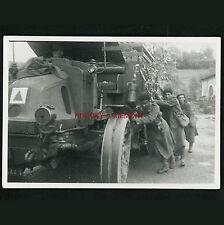 PHOTO WW2 1940 CAMION LATIL TAR TRAIN ARTILLERIE GEBIRGJÄGER COLONIAUX TRUCK