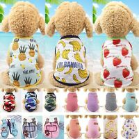 Summer Pet Dog Cat Clothes Puppy T-Shirt Clothing Small Dogs Chihuahua Vest HOT