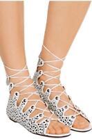 Alaia Laser Cut Leather sandals Heels Shoes UK6 EU39 US9 RRP1085GBP New