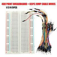 Prototyping 400 lötfreies Steckboard Breadboard + 65pcs Jumper Kabel für Arduino
