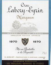 MARGAUX VIELLE ETIQUETTE CRU LABORY EYRIN 1970   §11/04/18§