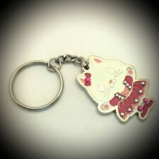 Keychain Rose Cat Metal Crystal Tourist Souvenir Collection & Gift 326