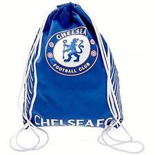 CHELSEA FC FOOTBALL LICENSED SCHOOL SPORTS GYM PE KIT DRAWSTRING SWIM BAG (SV)