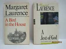 Margaret Laurence Books, Lot of 2 Books, A Jest of God & A Bird in the House
