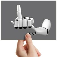 "Middle Finger Robot Swear - Small Photograph 6"" x 4"" Art Print Photo Gift #12322"