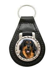 Hovawart Dog Leather Key Fob
