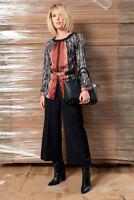 Edas maglia casacca Severa ANIMALIER elegante camicia blusa donna stampata