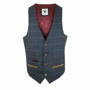 MARC DARCY Eton Waistcoat Blue
