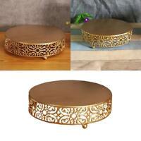 25*25cm Gold Metal Wedding Dessert Tray Cake Stand Party Pan Cupcake Suppli M8C3