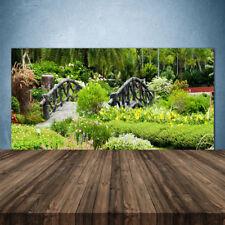Küchenrückwand aus Glas ESG Spritzschutz 140x70cm Garten Brücke Natur