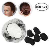 100Pcs Black Hair Nets Elastic Edge Mesh Net Stretch Invisible Hairnet Cover