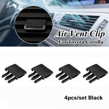 4Pcs Black Car Air Conditioning Vent Louvre Blade Slice Clip For Toyota Corolla
