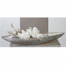 Casablanca Schale Purley Metall antik silber oval Dekoschale Dekoration 60cm