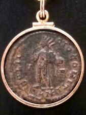 Constantine I London Mint Ancient Roman Coin Gold-filled Pendant Necklace Sandy