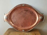 Antique Arts And Crafts Movement Copper tray by Albert Edward Jones circa 1905