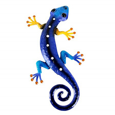 Metal Gecko Wall Art Lizard Outdoor Decor Garden Decorations Blue Black 12